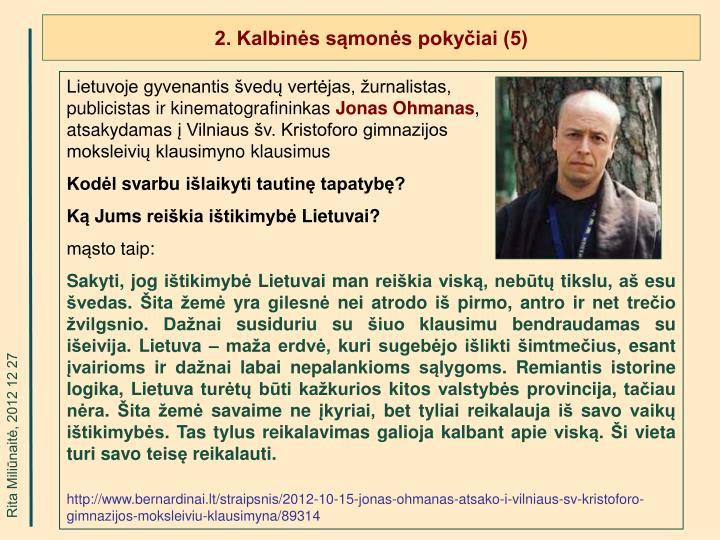 2. Kalbinės sąmonės pokyčiai (5)