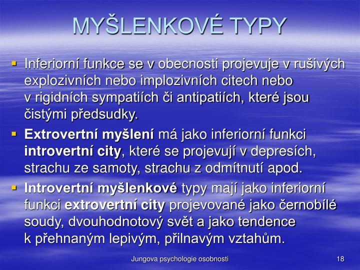 MYŠLENKOVÉ TYPY