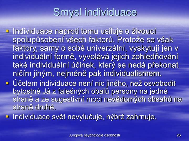 Smysl individuace