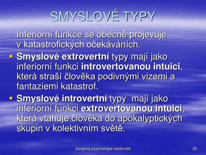 SMYSLOVÉ TYPY