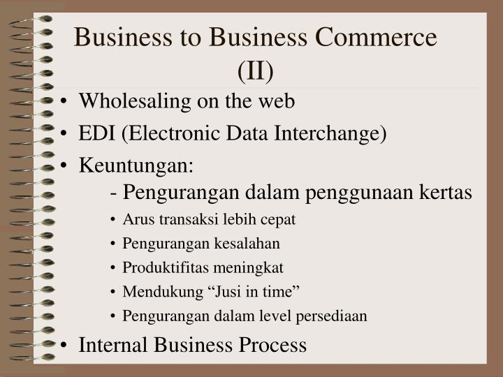 Business to Business Commerce