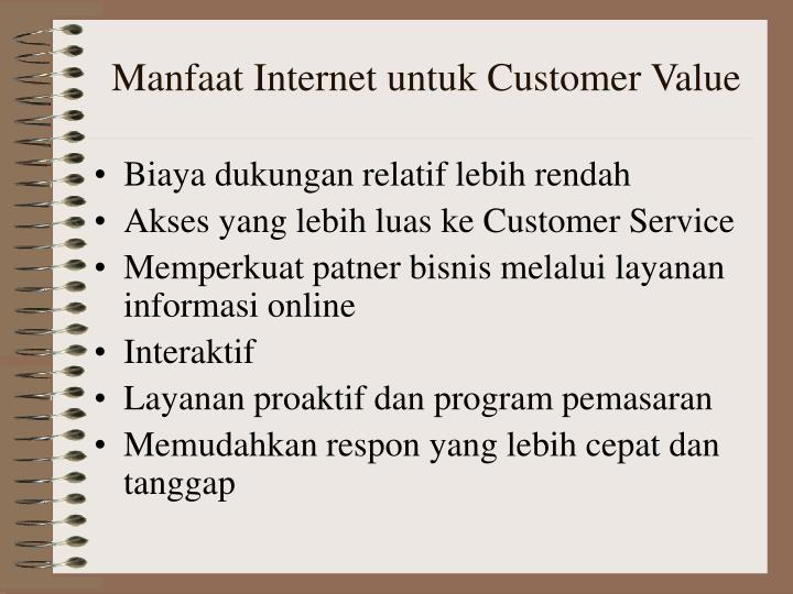 Manfaat Internet untuk Customer Value