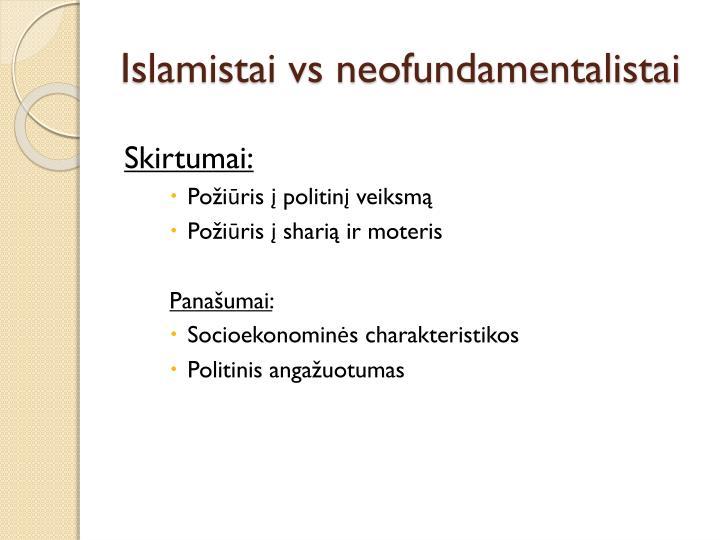 Islamistai vs neofundamentalistai