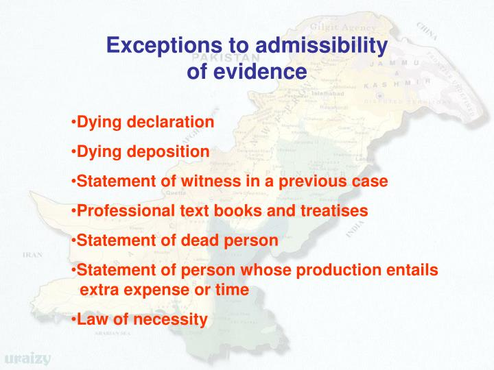Exceptions to admissibility