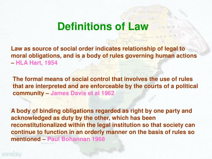 Definitions of Law