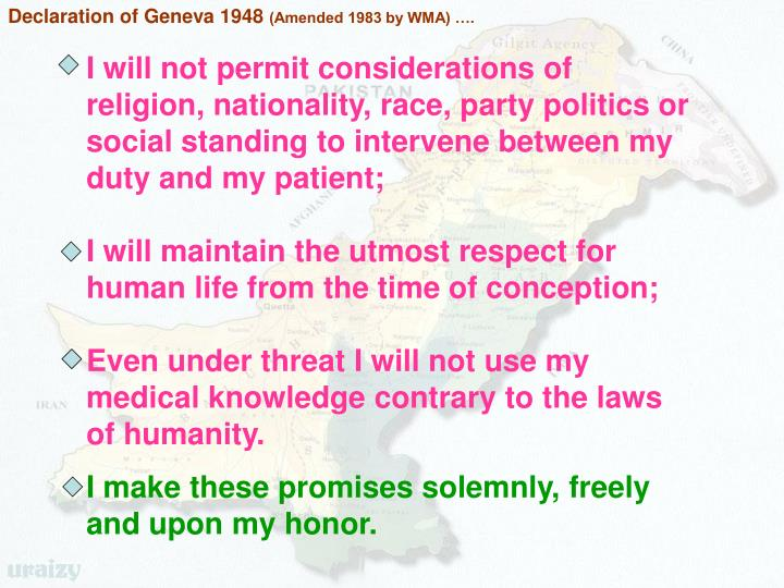 Declaration of Geneva 1948