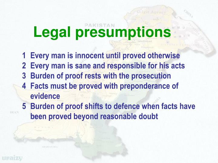Legal presumptions