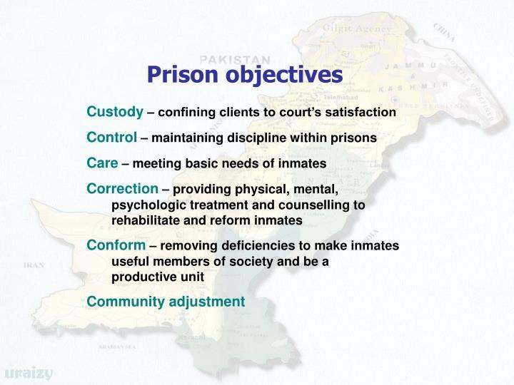 Prison objectives