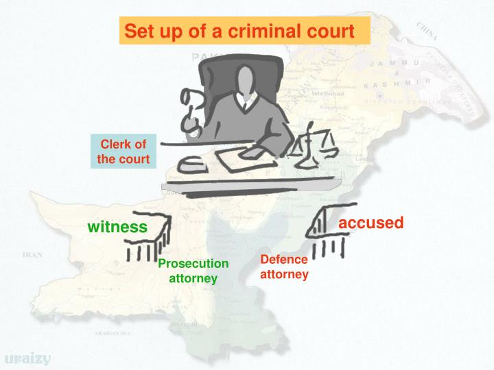 Set up of a criminal court