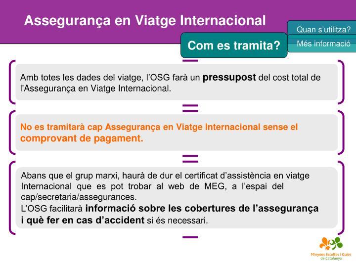 Assegurança en Viatge Internacional
