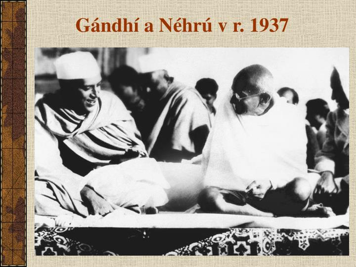 Gándhí a Néhrú v r. 1937