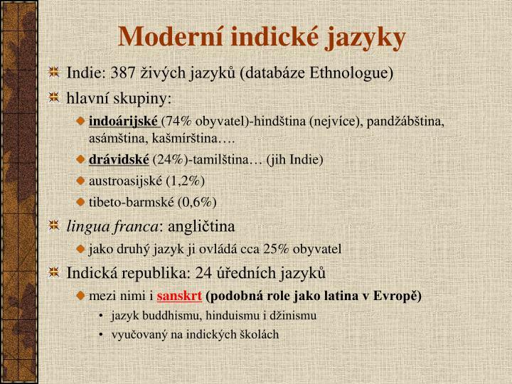 Moderní indické jazyky