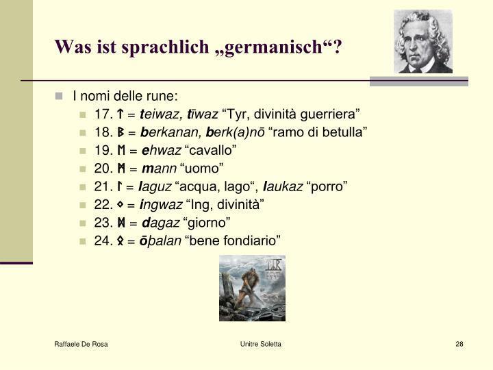 """Was ist sprachlich """"germanisch""""?"""