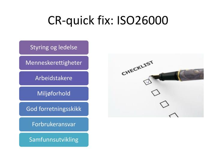 CR-quick fix: ISO26000