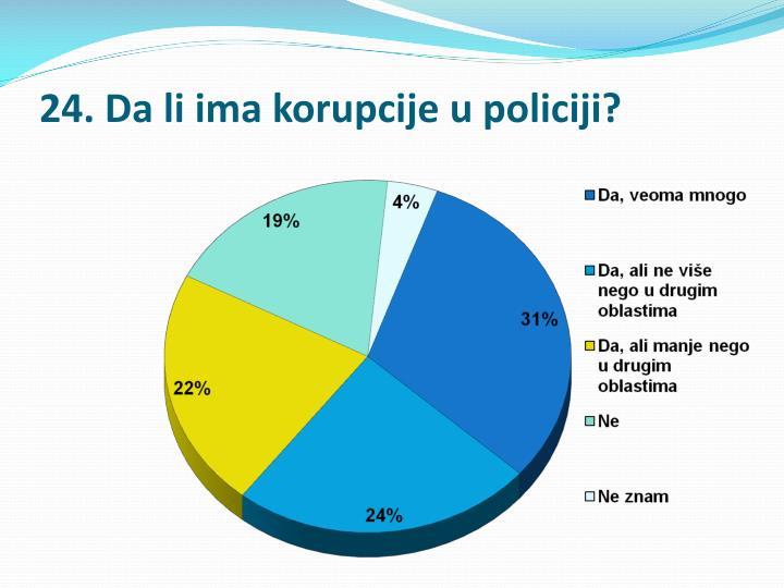 24. Da li ima korupcije u policiji?