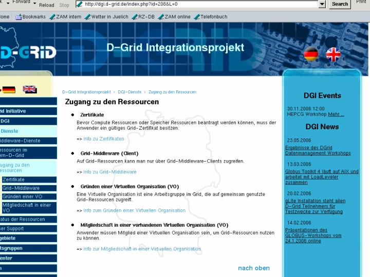 O.Büchnerr, FZJ/ZAM, 24.07.2006 AstroGrid-D Meeting