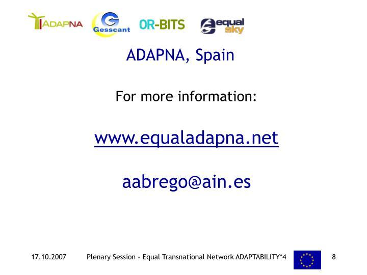 ADAPNA, Spain