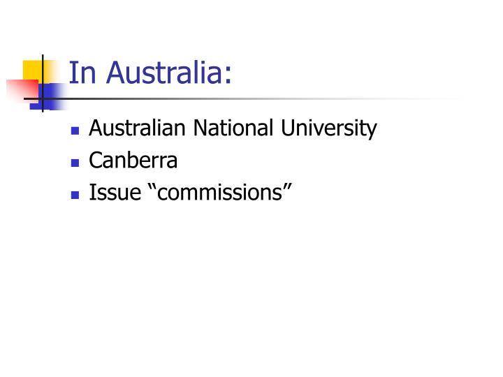 In Australia: