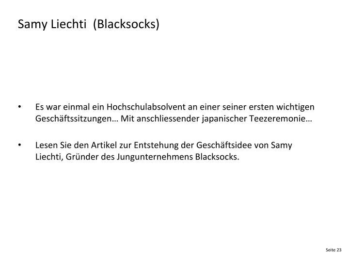 Samy Liechti  (Blacksocks)