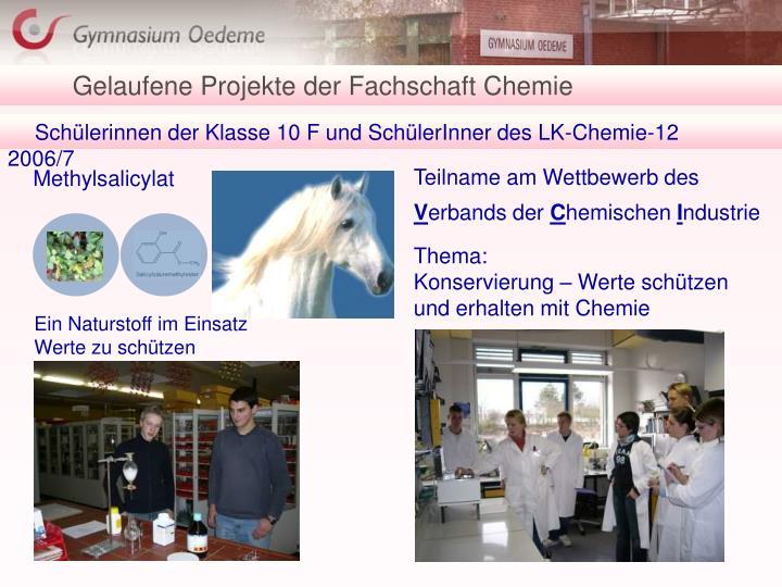 Gelaufene Projekte der Fachschaft Chemie