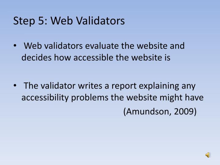 Step 5: Web