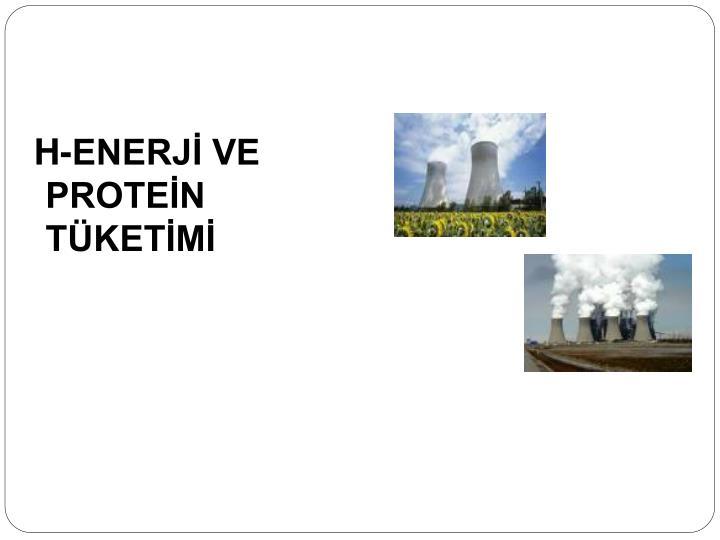 H-ENERJİ VE   PROTEİN TÜKETİMİ