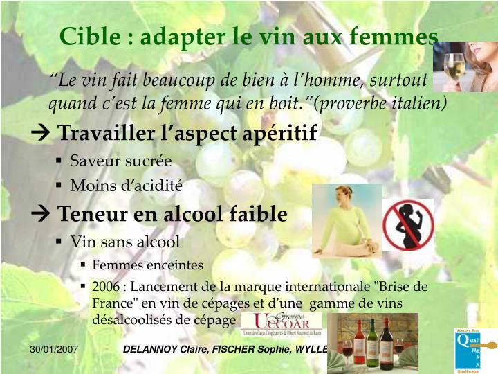 Cible : adapter le vin aux femmes