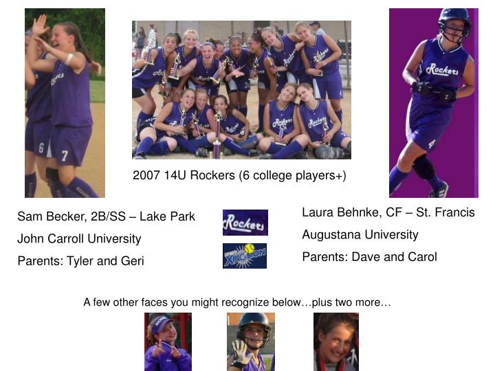 2007 14U Rockers (6 college players+)