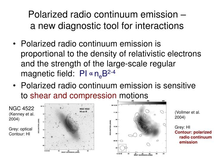 Polarized radio continuum emission –