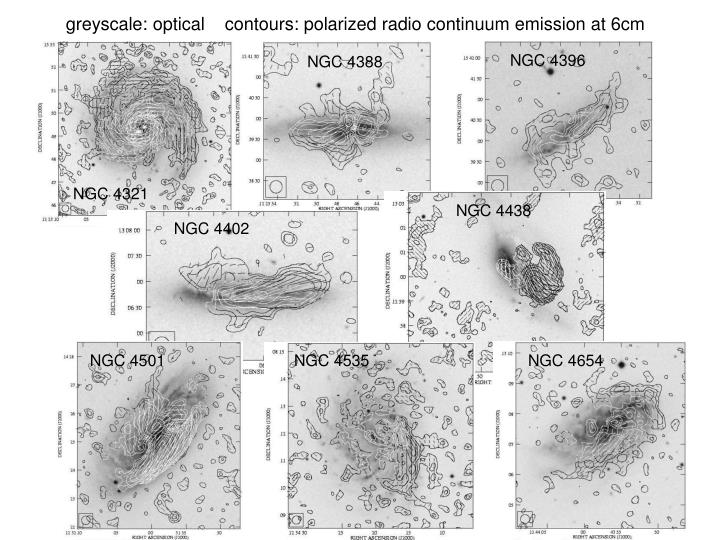 greyscale: optical    contours: polarized radio continuum emission at 6cm