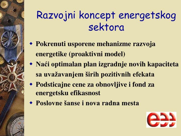 Razvojni koncept energetskog sektora