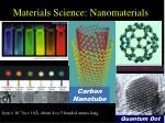 materials science nanomaterials