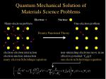 quantum mechanical solution of materials science problems