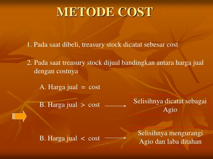 METODE COST