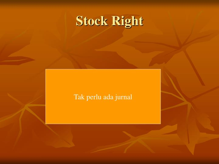Stock Right