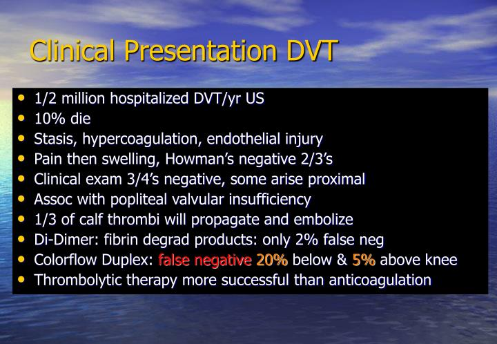 Clinical Presentation DVT