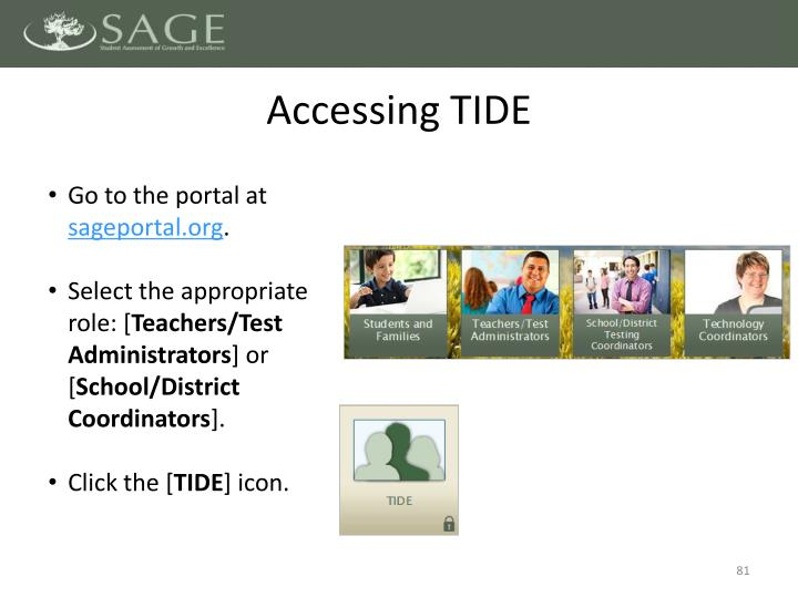Accessing TIDE