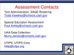 assessment contacts