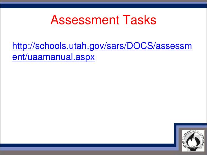 Assessment Tasks