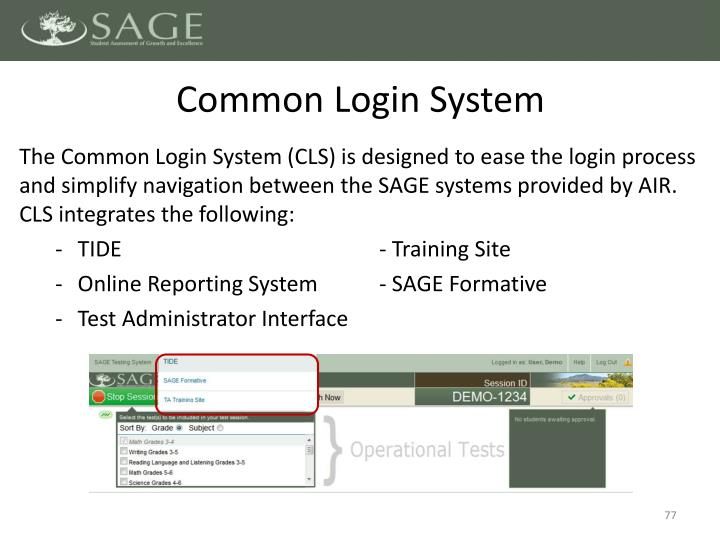 Common Login System