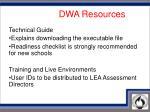 d w a resources