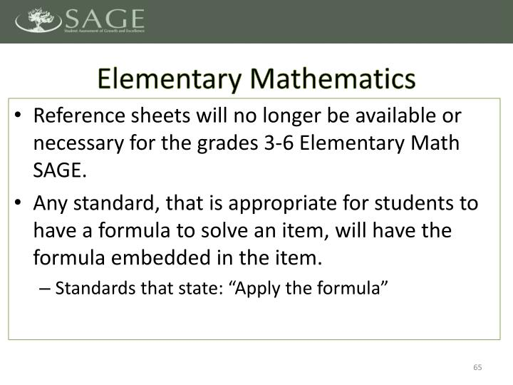 Elementary Mathematics