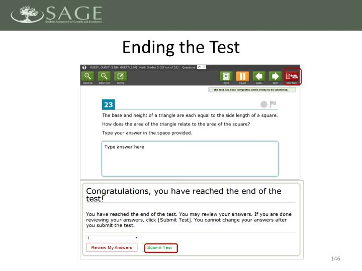 Ending the Test