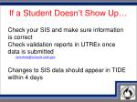 if a student doesn t show up