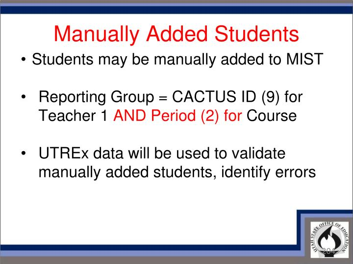 Manually Added Students