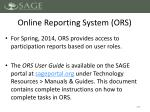 online reporting system ors1