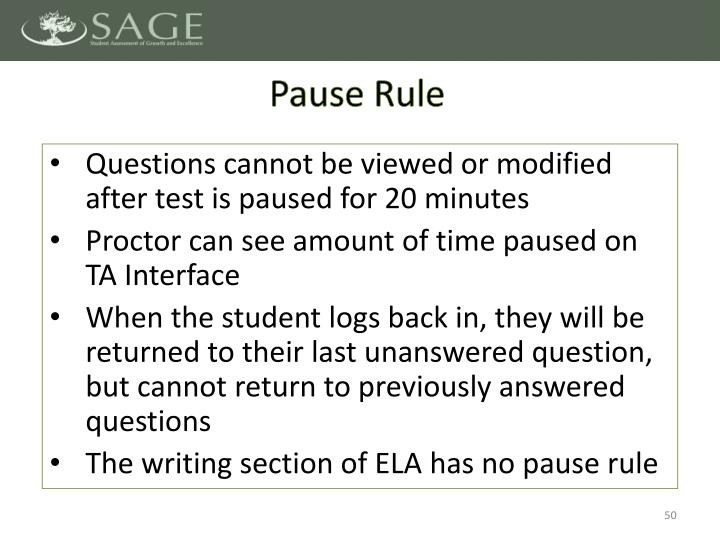 Pause Rule