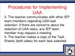 procedures for implementing uaa2