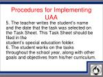 procedures for implementing uaa3