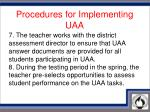 procedures for implementing uaa4